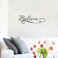 Believe - Inspirational Quote Removable Vinyl Wall Art Quotes Decal Sticker