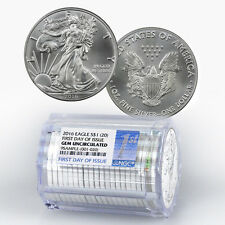 2016 1 Troy Oz Silver Eagles NGC Gem Unc First Day Issue (Roll of 20) SKU39000