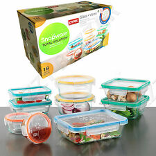 Snapware Pyrex Glass Food Storage Containers Airtight Leakproof Lid 18Pc Set New