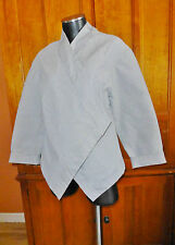 LESLIE HERBERT New Zealand Asian Chic Boho Micro Stripe KIMONO Jacket Coat sz 8