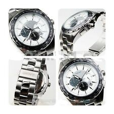 DKNY MEN'S LUXURY SILVER CHRONOGRAPH TACHYMETER WATCH NY1486