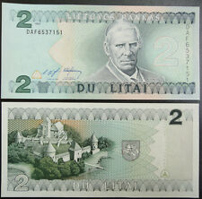 Lithuania Paper Money 2 Litai 1993 UNC