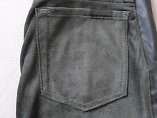 SEVEN 7 FOR ALL MANKIND WOMENS GRAY SUEDE LIKE PANTS W/ RIRI ZIPPERS SIZE 24 NEW