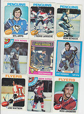 1978-79 TOPPS SIGNED CARD ANDRE MOOSE DUPONT FLYERS RANGERS BLUES NORDIQUES # 98