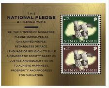 Singapore -2015 World Stamp Exh Miniature Sheet National Pledge MNH 4 hands SG50