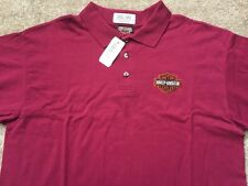 Harley Davidson Bar and Shield burgundy Polo Shirt NWT Men's large