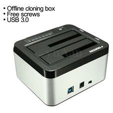 "SEATAY USB 3.0 HUB Dual Support 2.5~3.5"" SATA Hard Drive Disk HDD Dock SSD 6TB"