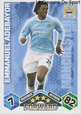 EMMANUEL ADEBAYOR # TOGO MANCHESTER CITY.FC CARD PREMIER LEAGUE 2010 TOPPS