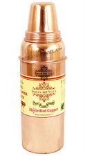Pure Copper Thermos Water Bottle 700 ML Drinkware Good Health Ayurveda Healing