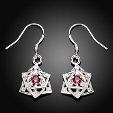 Women's Fashion Jewelry 925 Sterling Silver Earrings RED Earrings Birthday Gift