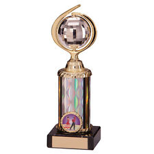 GLITTERBALL SPARKLING SILVER/GOLD DANCING TROPHY 20cm (5 SIZES) FREE ENGRAVING