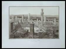 SIENNE, PIAZZA DEL CAMPO - PLANCHE ARCHITECTURE 1910 - HEBRARD