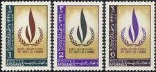 Afghanistan 1968 UN Day/Human Rights Year/Flame Emblem/Torch 3v set (n33184)