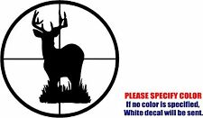 Vinyl Decal Sticker - Deer Buck Scope Gun Target hunting Car Truck JDM Fun 9""