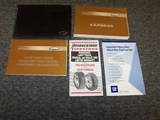 2002 Chevy Express 1500 2500 3500 Van Owner Owner's Operator Guide Manual Set