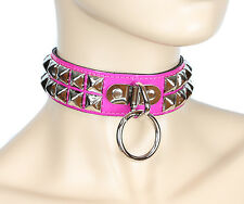 Pink Bondage Studded Ring Fetish Bondage Collar Sexy Sassy Cosplay Dance Party
