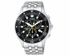 Citizen Men's Eco-Drive Perpetual Calendar Chronograph Watch - Silver/Black