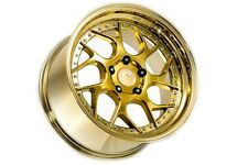 18x9.5 Aodhan DS01 5x114.3 +30 Gold Vacuum Rims Fits Tuburon Speed 3 Eclipse Rx8