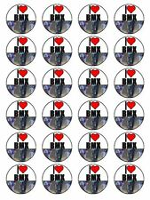 "x24 1.5"" I Love BMX Bicycle Motocross Birthday Cupcake Topper On Rice Paper"