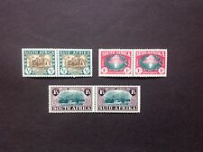 SOUTH AFRICA 1939 250th Anniversary of Huguenot Landing set joined pairs