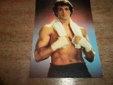 1 PHOTO STYLE CARD OF SYLVESTER STALLONE-AS NEW - APPROX.  9 X 12 CM