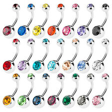 Wholesale 12pcs Surgical Steel Navel Belly Button Ring Body Piercing Jewelry Lot