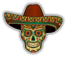 "Mexican Skull Pattern Car Bumper Sticker Decal 5"" x 4"""