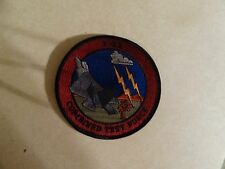 US MILITARY PATCH OLDER SEW ON F-22 COMBINED TEST FORCE 4 INCHES ROUND