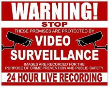 "4""x5"" CCTV 24 HOUR SURVEILLANCE  WARNING DECAL- Security Camera Recording Sign"