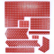 Lego Technic - Red Studless Beams Liftarms Bricks Plates Thins - 108 Parts - NEW