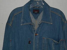 Tommy Hilfiger Denim Jean Jacket LARGE Mens Blue Engineer Coat 6D14