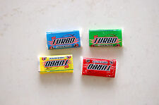 100 random gums Turbo Mert New Gum Wrappers Stickers All Colors