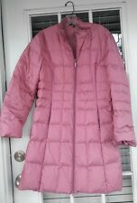 Hillary Radley Ladies PINK Puff  Long Down Coat  size12