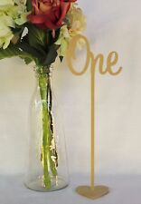Set of 20 Freestanding wedding wooden table numbers with base/sticks