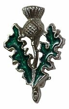 Art Pewter Scottish Thistle Turquoise Brooch Gift Scotland