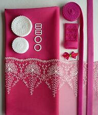 Raspberry Lace Bra Making Kit. Inc Fabric and Notions. Sewing Crafts