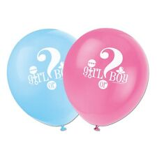 "8 Boy Or Girl Baby Shower Gender Reveal Party 12"" Printed Latex Balloons"