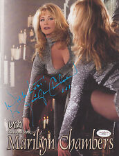 MARILYN CHAMBERS SIGNED WITH LUST 8.5x11 VCA PORN STAR PROMO AD FLYER PHOTO JSA