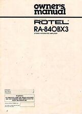 ROTEL RA-840BX3 - Bedienungsanleitung Manual - B1949