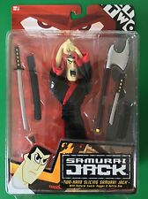 Cartoon Network SAMURAI JACK Two Hand Slicing Samurai Jack AKU Red Card New