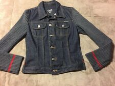 Euc D&G Dolce & Gabbana Denim/sweater Jacket Size Small