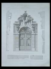 PARIS, 30 RUE DES FRANCS BOURGEOIS, PORTE - 1865 -  GRAVURE - HOTEL D'ALMERAS