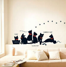 Lovely Cats Adesivi Murali Vinile Murale Art Decalcomania Muro Home Decor
