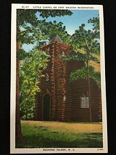 Mid-1900s Little Chapel on Fort Raleigh Reservation, Roanoke Island, NC postcard