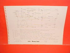 1973 MERCURY COUGAR XR-7 XR7 CONVERTIBLE COMET SEDAN FRAME DIMENSION CHART