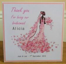 Personalised Handmade Thank You for Being our Bridesmaid Wedding Card