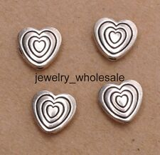 20pcs Tibetan Silver Charm Heart Shaped Loose Spacer Beads Jewelry DIY 9mm D3089