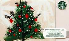 STARBUCKS COLLECTIBLE GIFT CARD Christmas TREE NO $ VALUE ON CARD BILINGUAL