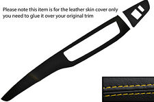 YELLOW STITCH TWO PIECE DASH KIT LEATHER COVERS FITS MITSUBISHI LANCER EVO 7 8 9