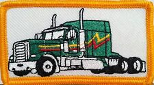 GREEN TRUCK Color  Iron-On Patch Truck Driver Emblem Gold  Border